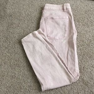 Hot Kiss pink faded ankle jeans
